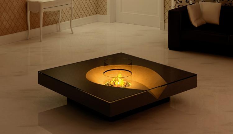 central chimenea calido estilo mesa