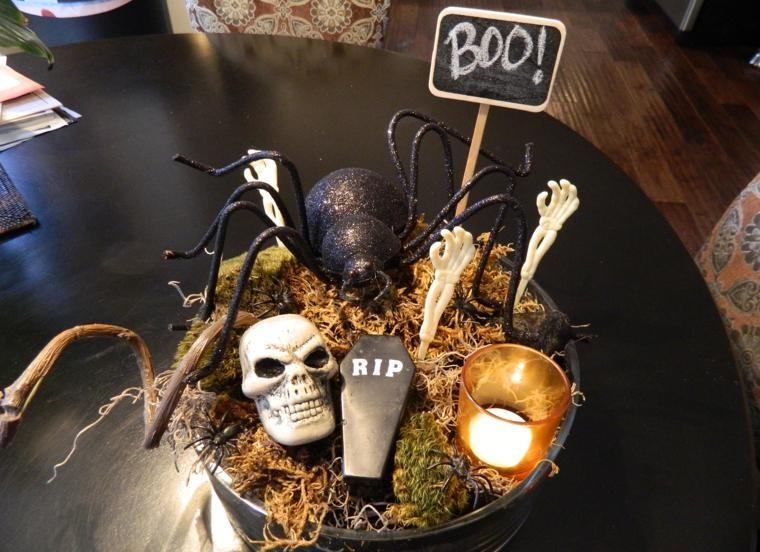 Recetas halloween c mo decorar una mesa terror fica for Centros de mesa para halloween