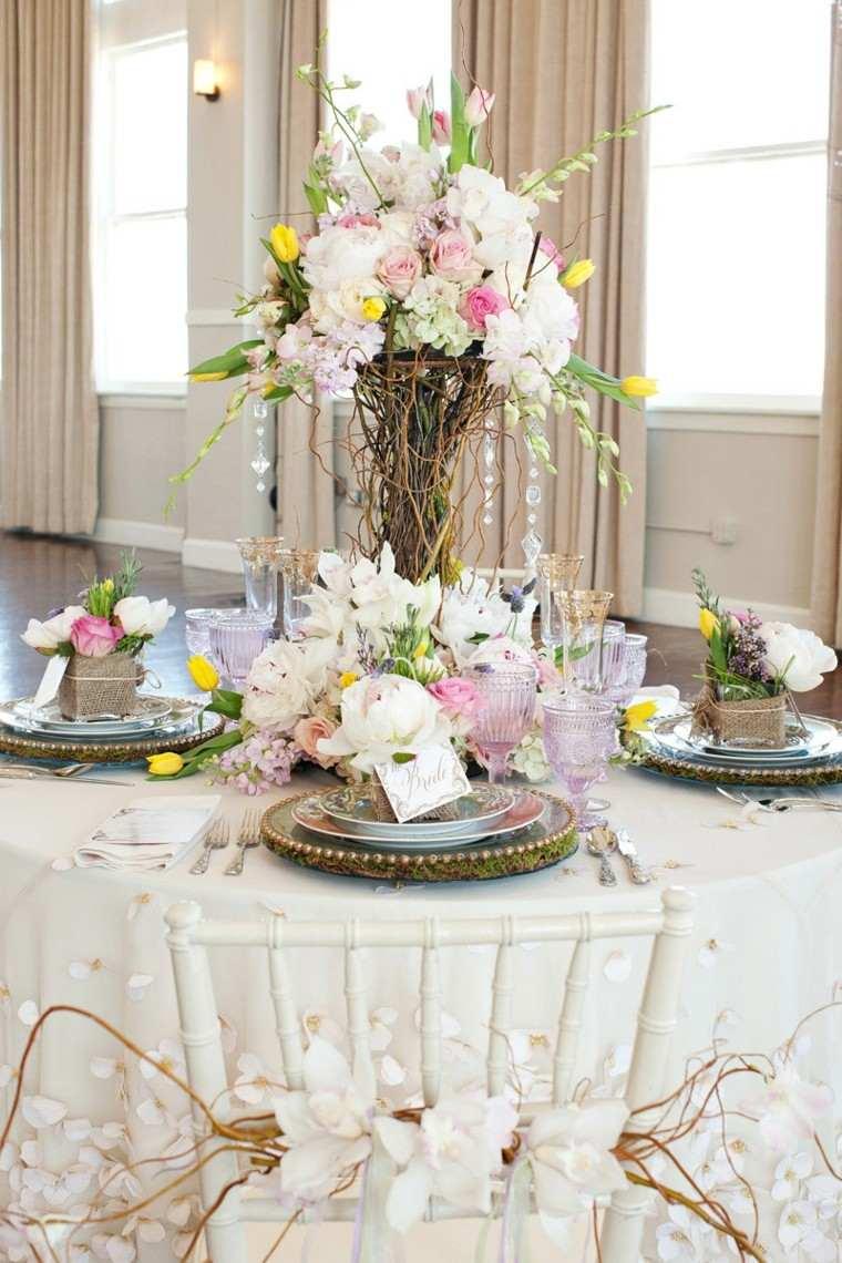 Arreglos florales para centros de mesa de bodas www for Mesas de bodas