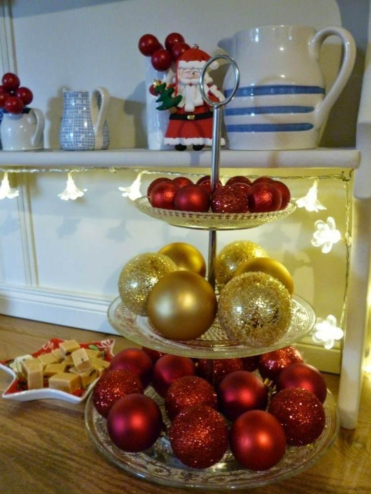 centros bolas dorado decoracion madera