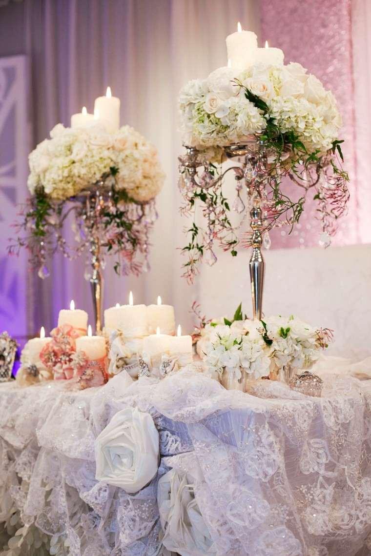 centros flores deco boda rosas