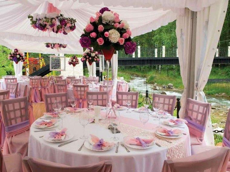 centros mesa bodas jardin