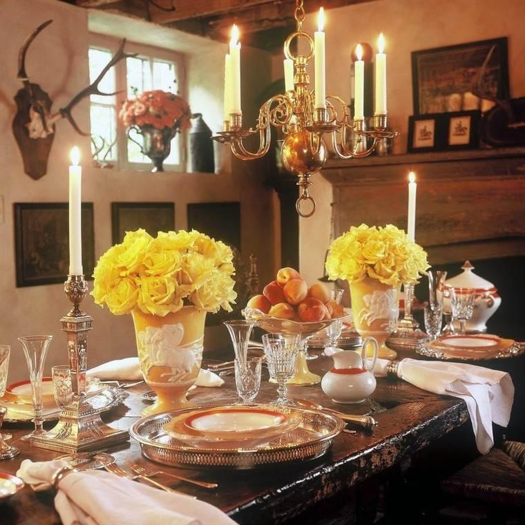 centro mesa rosas amarillas