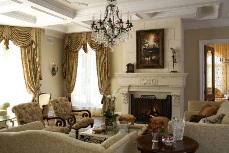 chimeneas modernas calor salon clasico ideas