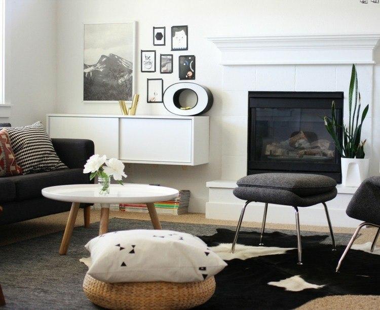 chiemenea moderna calor salon estilo escandinavo ideas