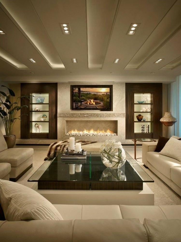 chiemenea moderna calor salon lujoso ideas