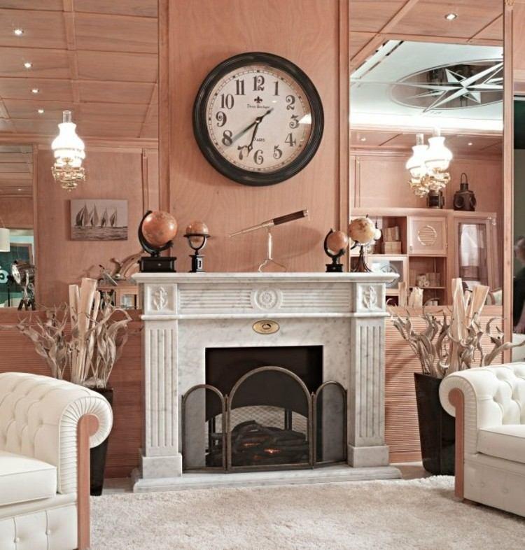 chiemenea moderna calor salon marmol ideas