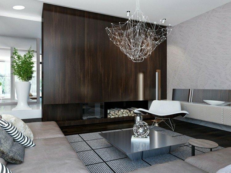 chiemenea moderna calor salon mesa metalica ideas