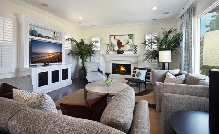 chiemenea moderna calor salon plantas ideas