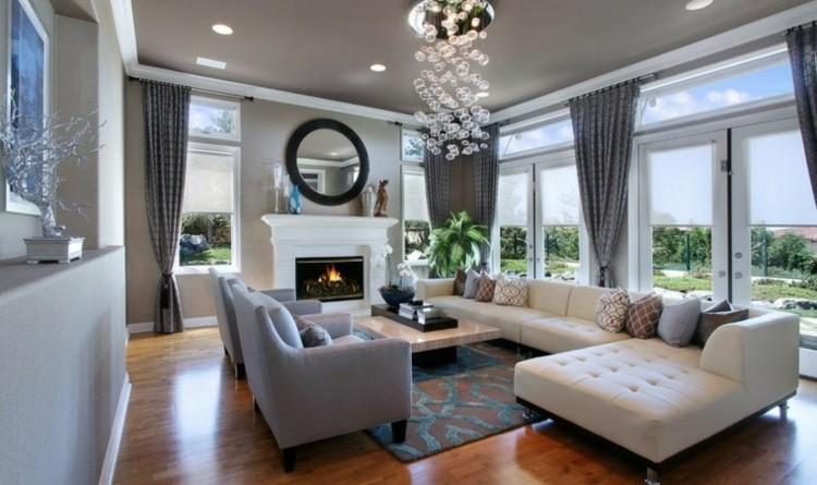 chiemenea moderna calor salon sofa angular ideas