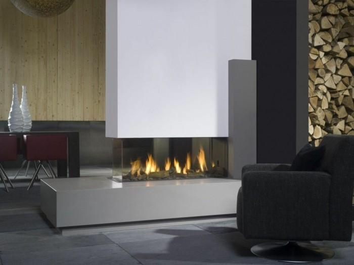 chimenea diseño estilo moderno