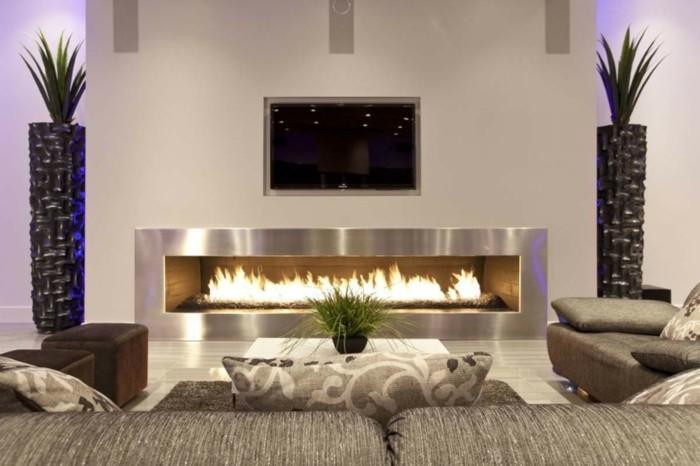 chimenea acero diseño moderno horizontal