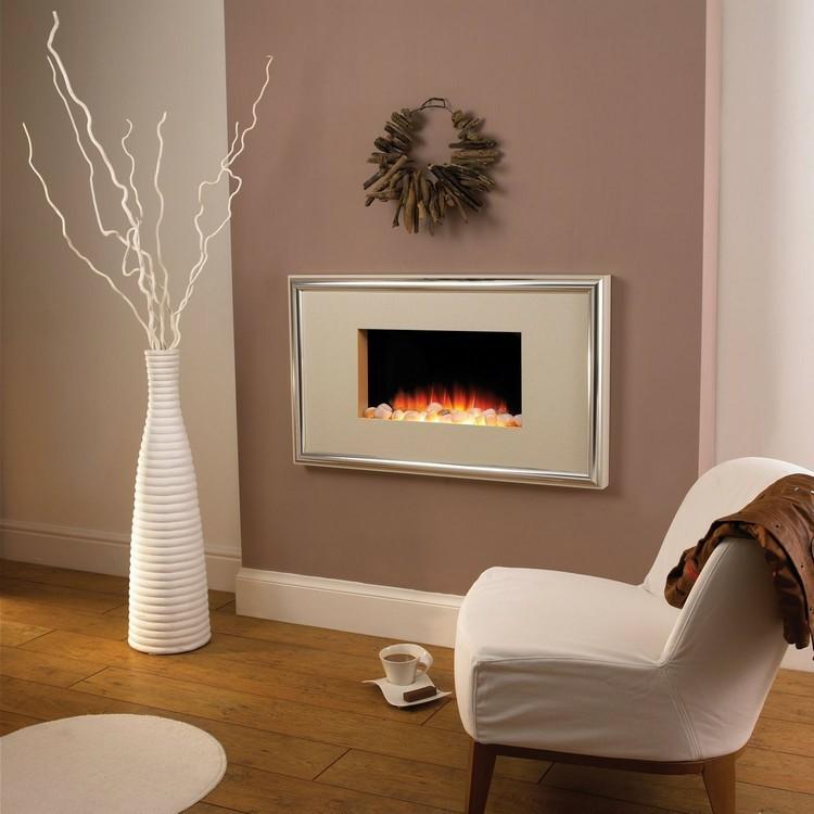chimeneas modernas ideas blanco casas