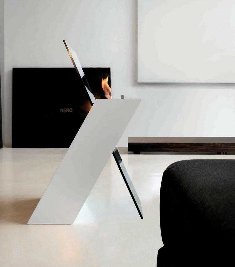 chimeneas modernas ideas estilos blanco