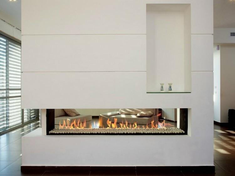 chimeneas modernas ideas separador paredes copas