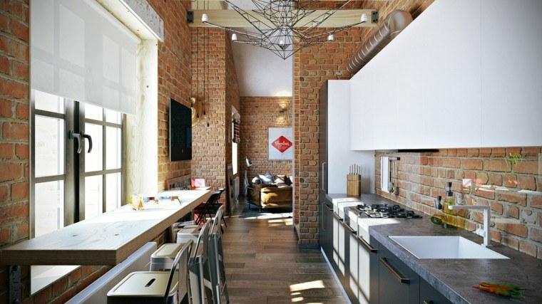 cocina diferente elegante metales estantes
