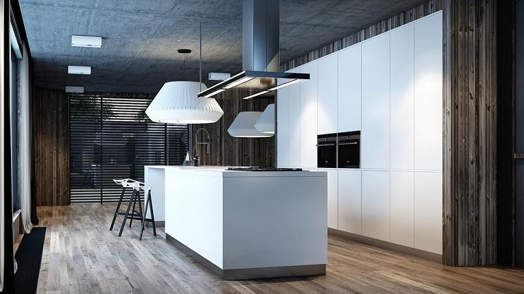 cocina moderna creativa campanas blanco