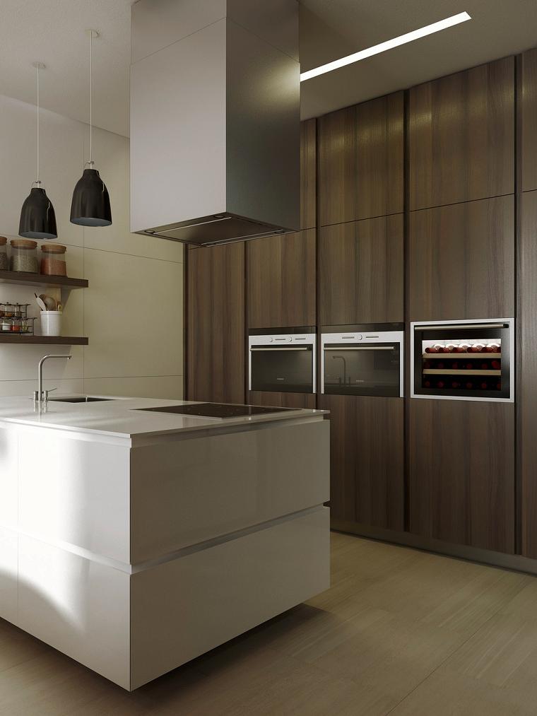 cocina moderna creativa madera negro