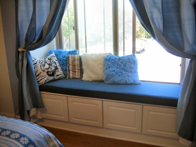 cojines estilo variantes ideas cortinas azules