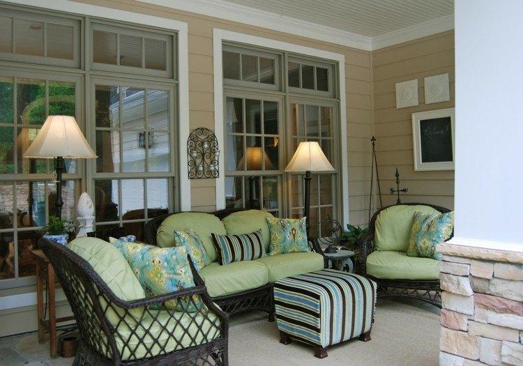 cojines estilo verdes animado acogedor exteriores