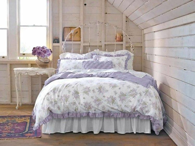 colcha cama flores col9r lila