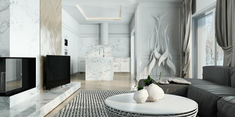 color blanco decoracion diseños television
