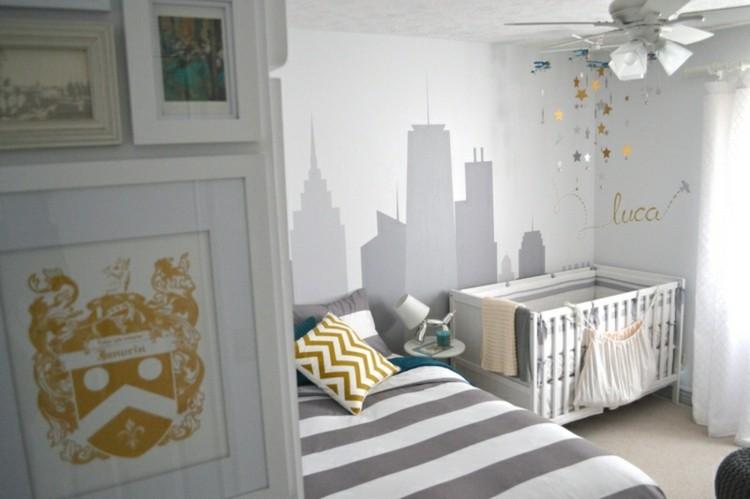 color blanco habitacion bebe lineas ventilador