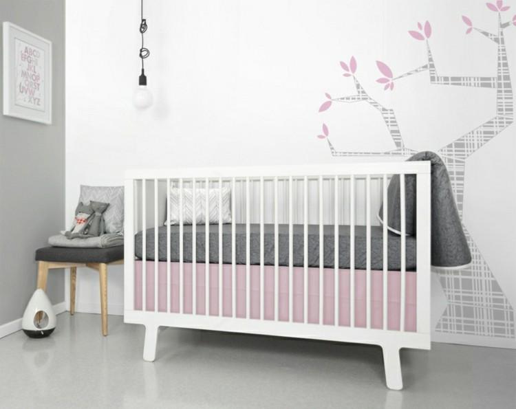 color blanco habitacion bebe rosados paredes