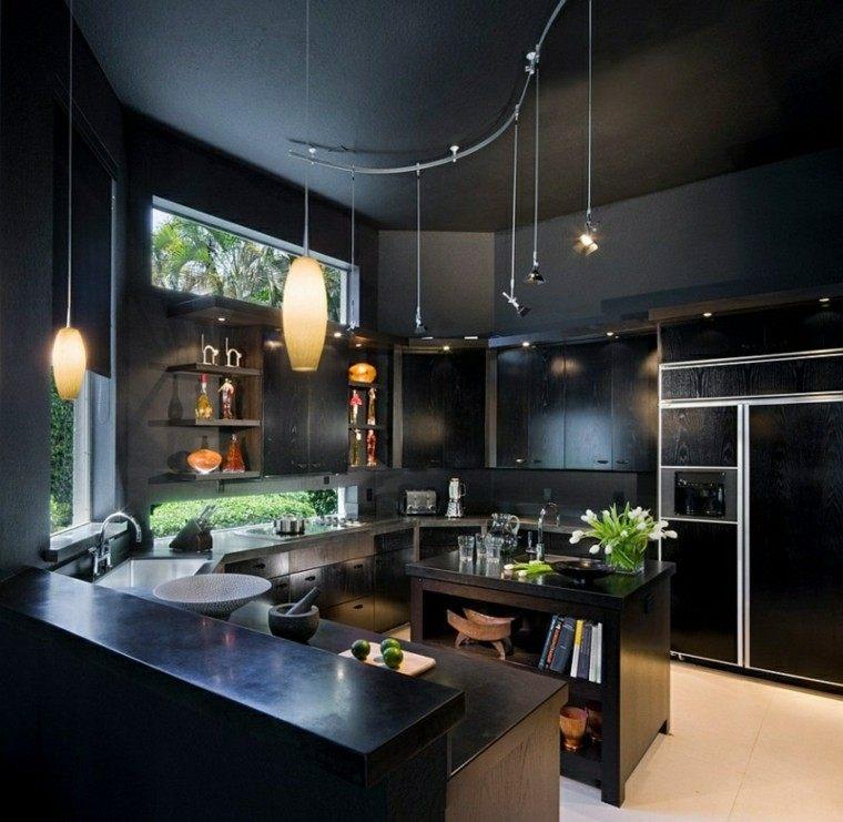 color negro ideas cocinas calido decoracion