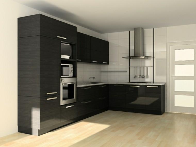 color negro ideas cocinas diseños abierto