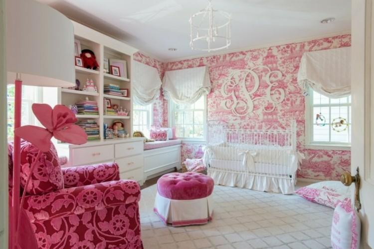 colorido espacio bebe paredes papeles rosa
