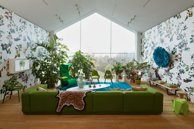 colorido paredes verde asientos azul