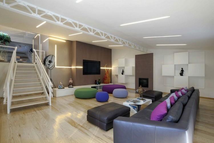 colorido salon maderas estilos sofa