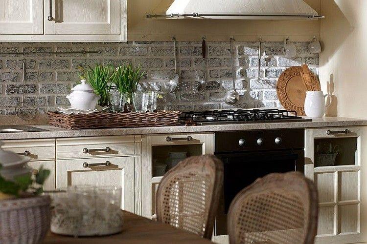 Decoracion vintage para cocinas salones y dormitorios - Salones decorados con piedra ...