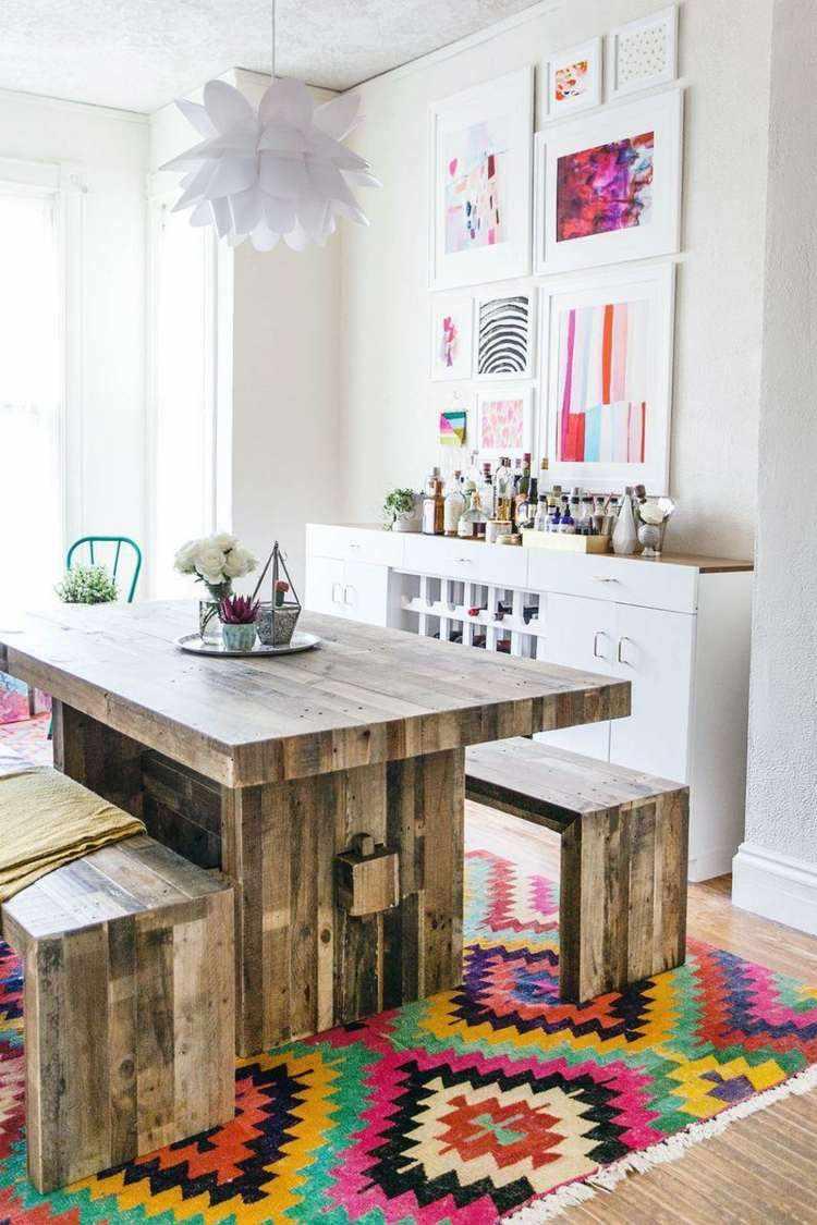 comedor ideas elegir forma color alfombra aztecas moderno