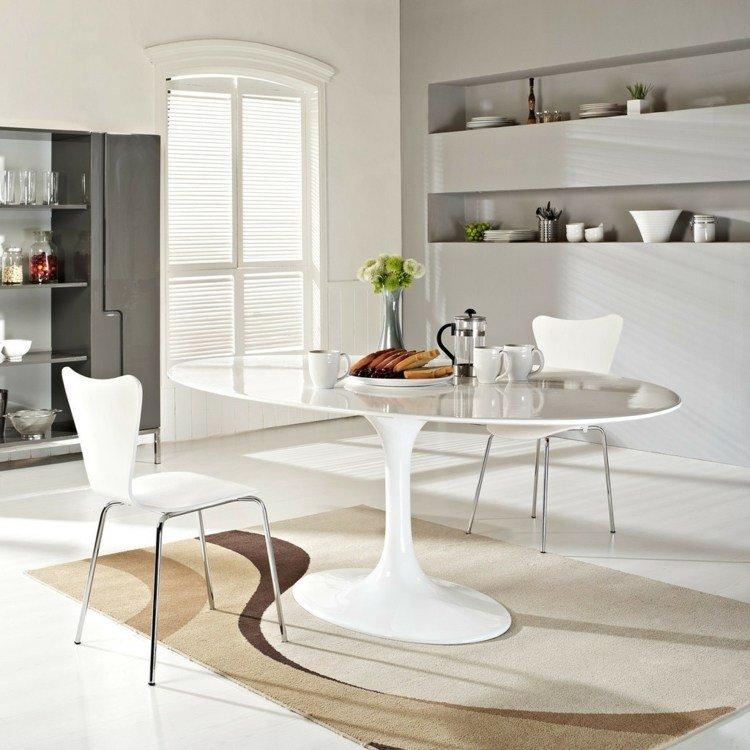 comedor ideas elegir forma color alfombra beige marron moderno