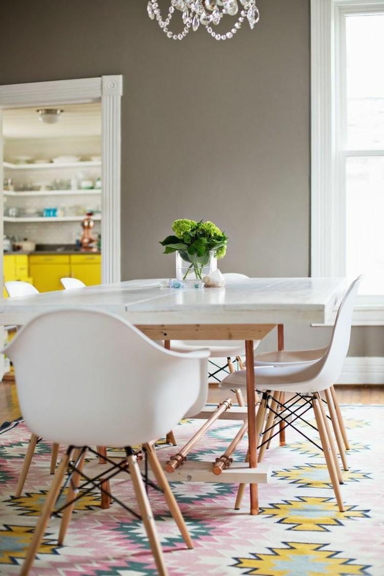 comedor ideas elegir forma color alfombra diseno escandinavo moderno