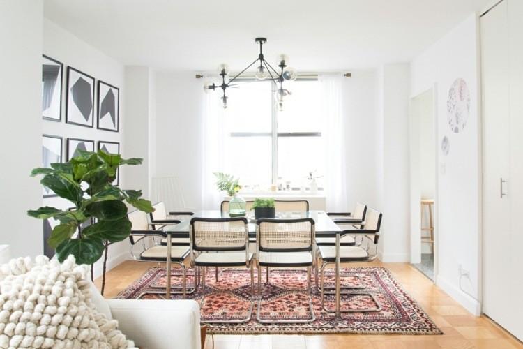 comedor ideas elegir forma color alfombra diseno oriental moderna
