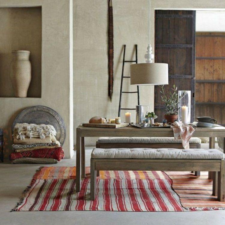 comedor ideas elegir forma color alfombra diseno rustico moderno