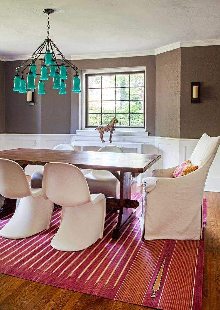 comedor ideas elegir forma color alfombra elegante moderno