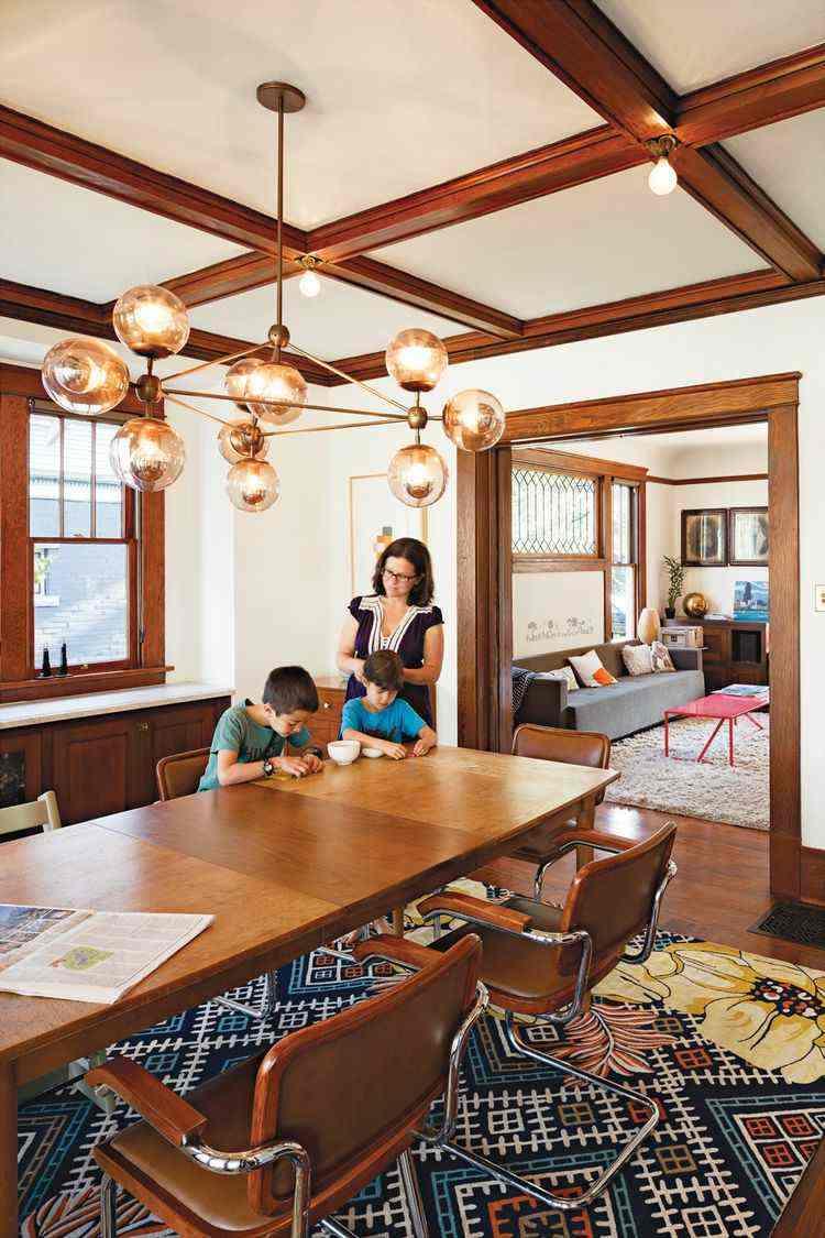 comedor ideas elegir forma color alfombra estampa original moderno