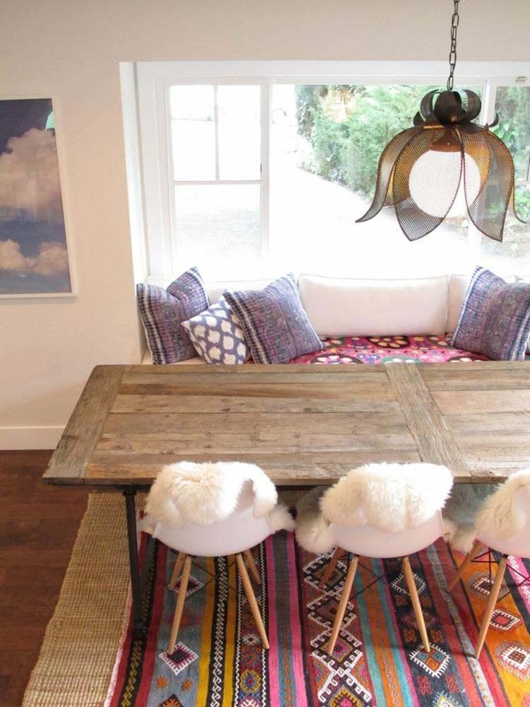 comedor ideas elegir forma color alfombra estampas bonitas moderno