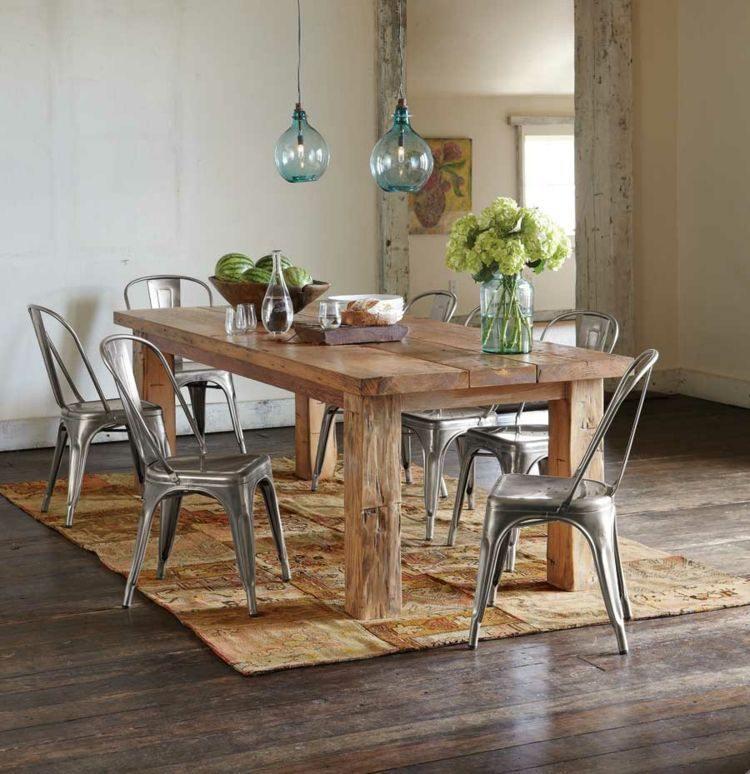 comedor ideas elegir forma color alfombra marron moderno