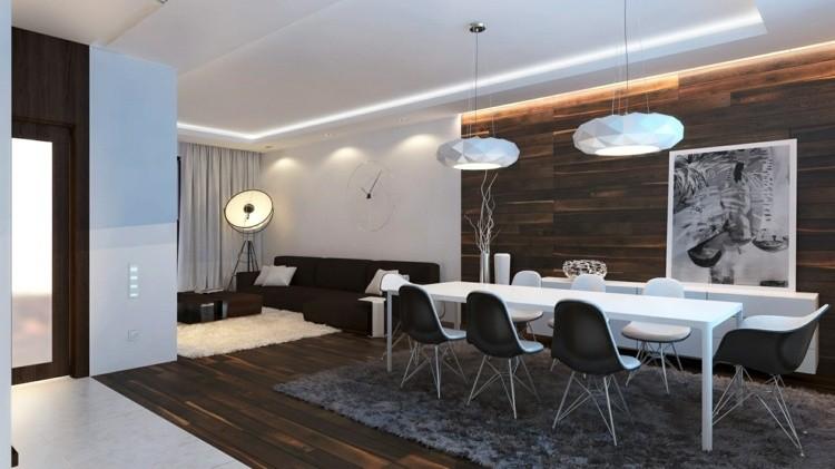 comedor ideas elegir forma color alfombra pelos gris moderno