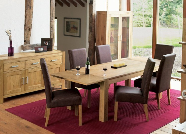 comedor ideas elegir forma color alfombra rectangular moderno