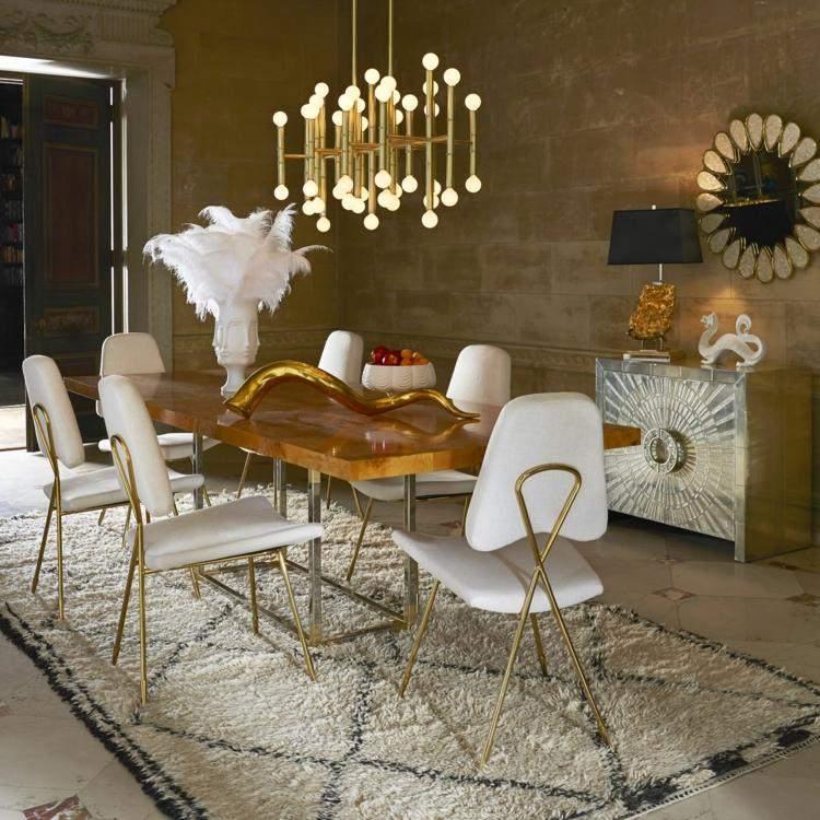 comedor ideas elegir forma color alfombra sillas blancas moderna