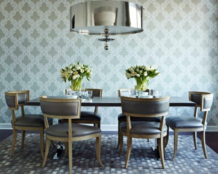 comedor ideas elegir forma color alfombra sillas gris moderno