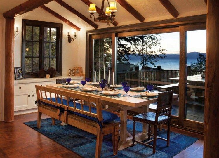 comedores ideas elegir forma color alfombra azul ideas