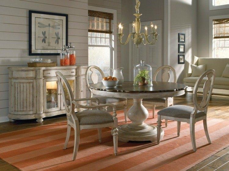 comedores ideas elegir forma color alfombra moderna color naranja