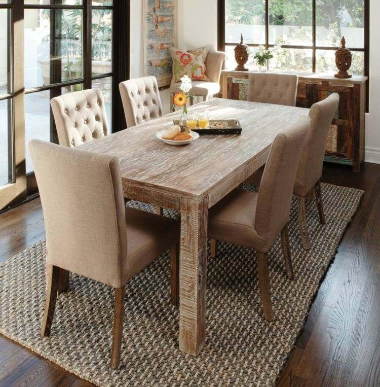 comedores ideas elegir forma color alfombra marron claro moderna